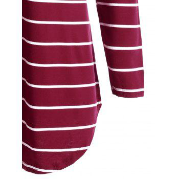Pocket Striped Tunic Mini T-shirt Dress - RED RED