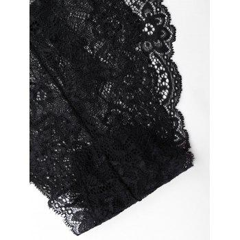 Low Waist Lace Panties - BLACK L