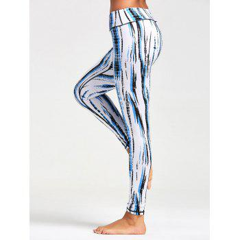 Ombre Printed Tight Leggings - WHITE WHITE