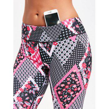 Floral Arygle Pattern Leggings for Yoga - TUTTI FRUTTI TUTTI FRUTTI