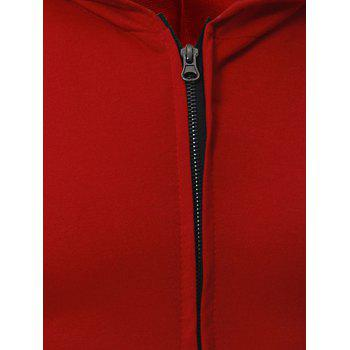 Kangaroo Pocket Zipper Up Hooded Vest - BLACK BLACK