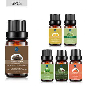 6 Bottles Cleansing Blend Essential Oil Set - MULTI multicolor