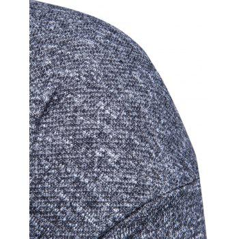 Drawstring Drop Shoulder Knitted Pullover Hoodie - DEEP GRAY XL