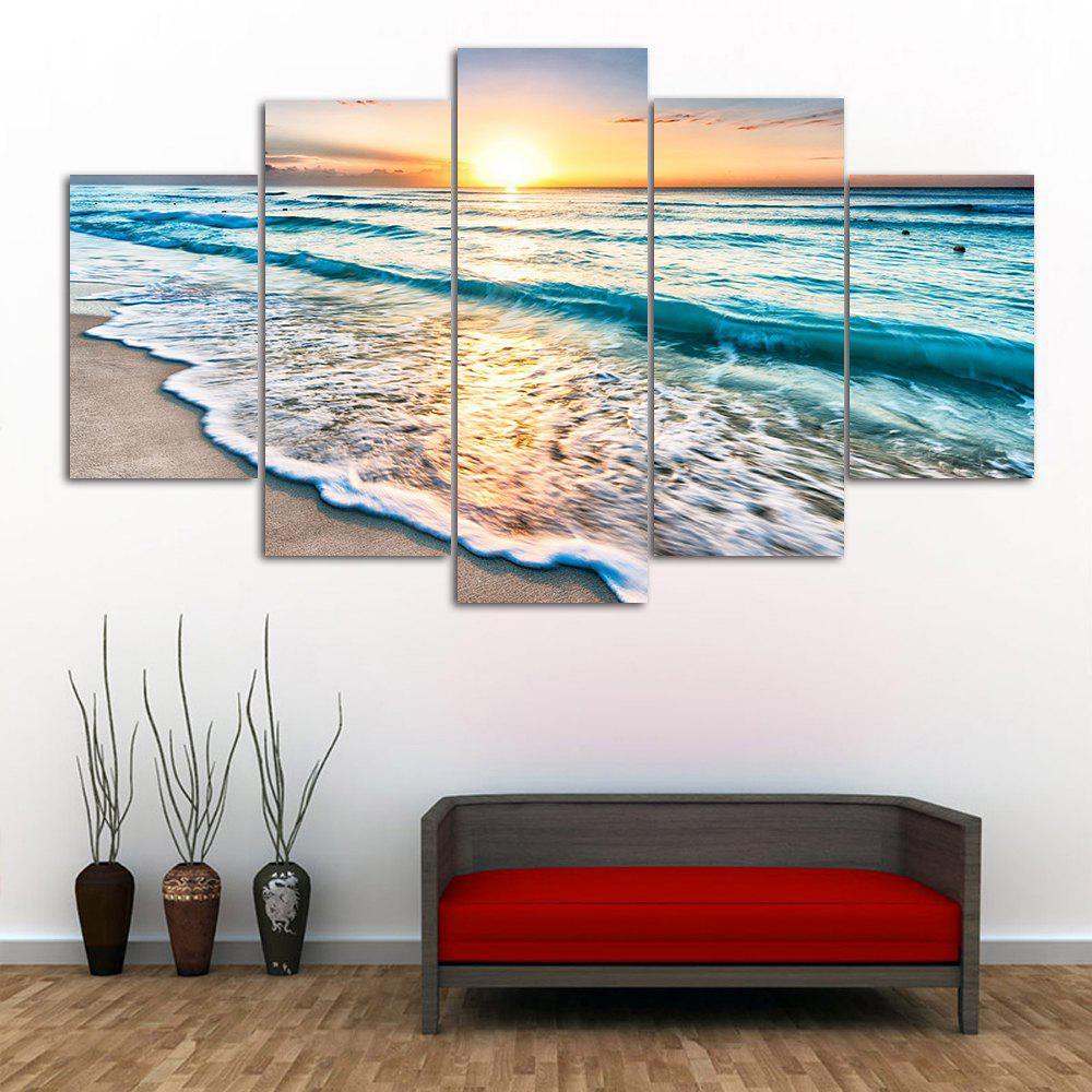Wall Art Sunset Beach Print Split Canvas Paintings sunset seascape patterned canvas wall art paintings