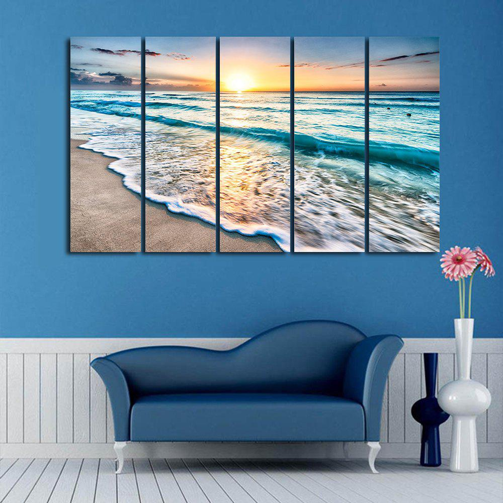 Compare wall split canvas art paintings beach starfish for Split wall