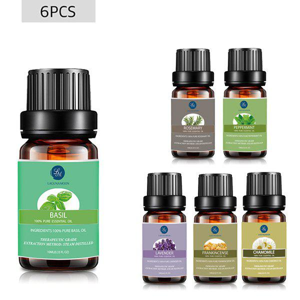 6 Pieces Tension Blend Essential Oil Set - multicolor