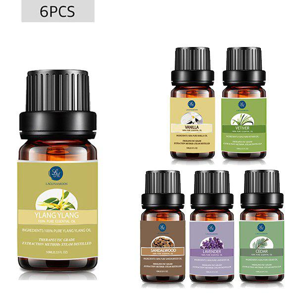 6Pcs Restful Blend Essential Oil Set - multicolor