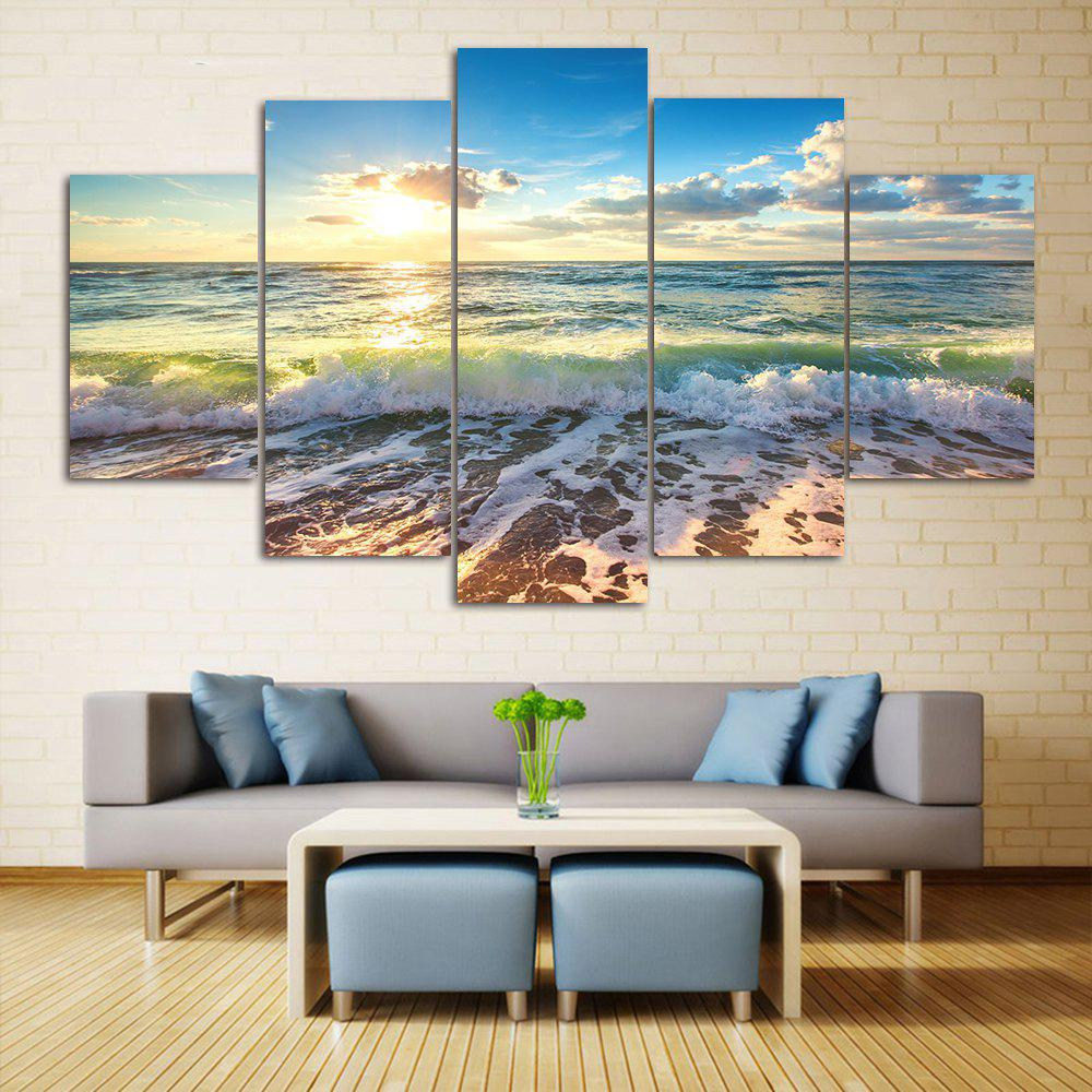 2018 wall art sea beach scenery print split canvas for Split wall