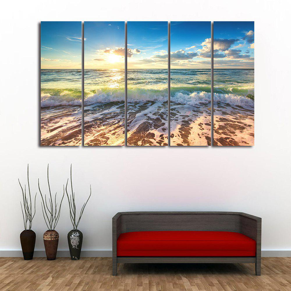 Wall Art Sea Beach Scenery Print Split Canvas Paintings wall art sunset pyramids printed unframed canvas paintings