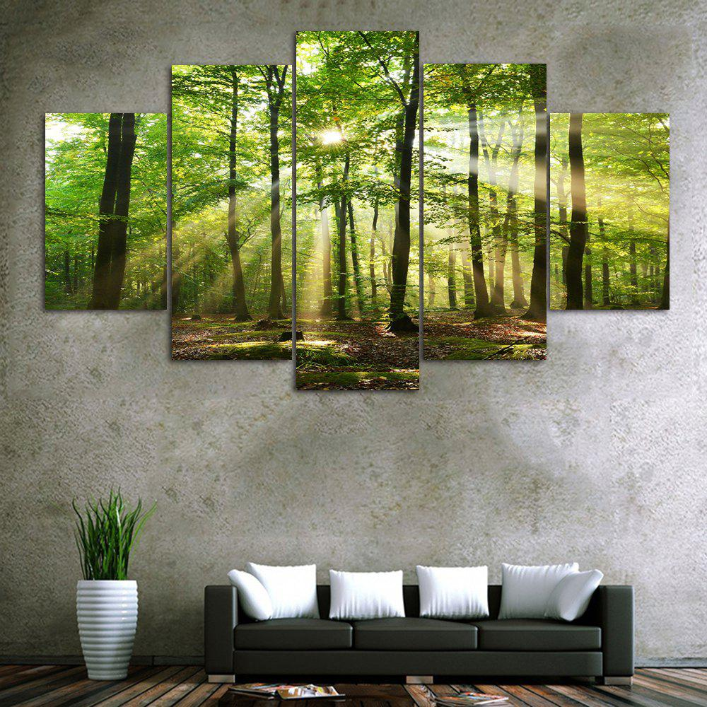 Sunlight Forest Print Unframed Canvas Paintings maple forest pattern unframed decorative canvas paintings