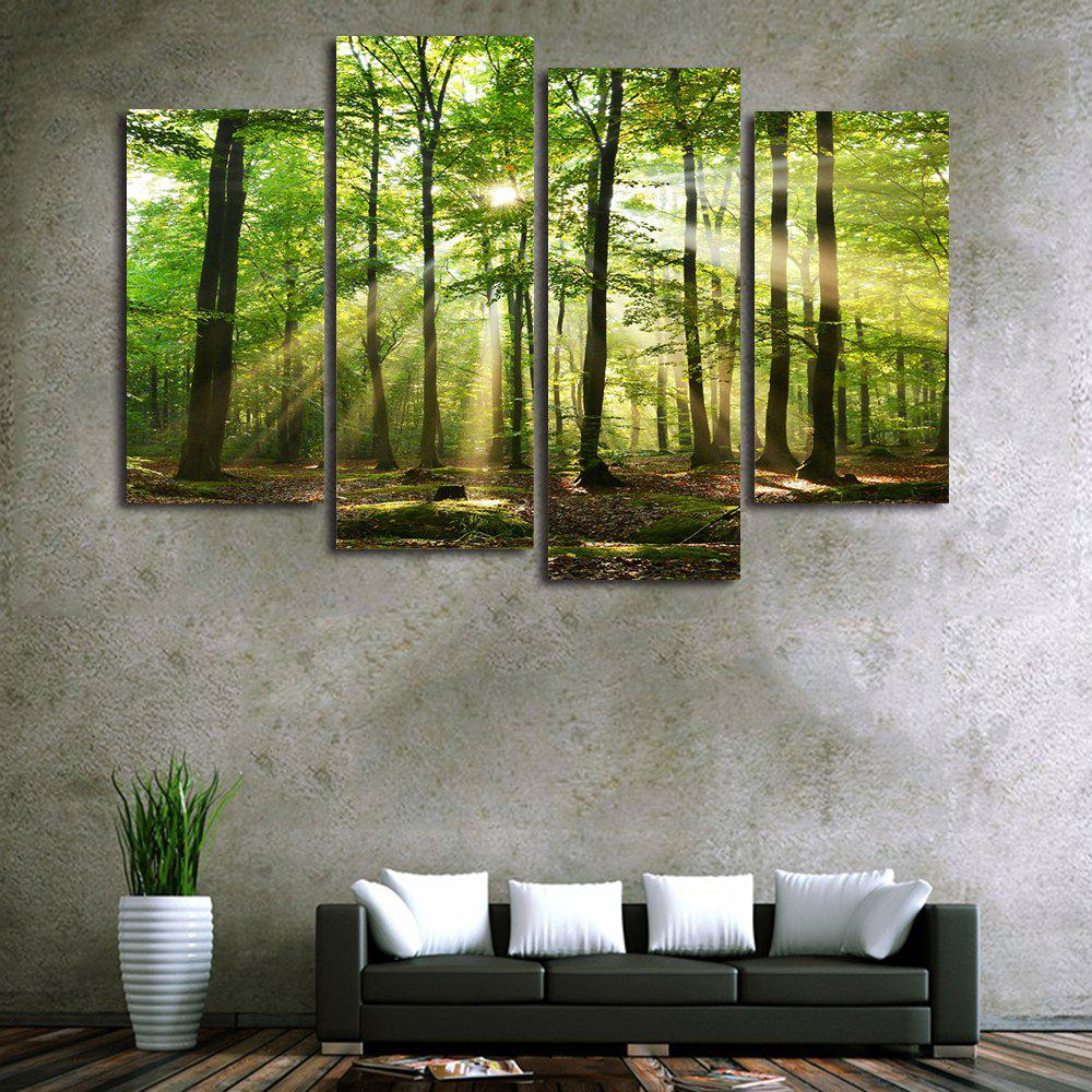 Sunlight Forest Print Unframed Canvas Paintings burning guitar pattern unframed wall art canvas paintings