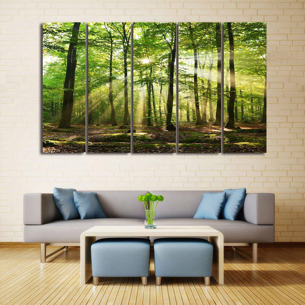 Sunlight Forest Print Unframed Canvas Paintings wall art sunset pyramids printed unframed canvas paintings