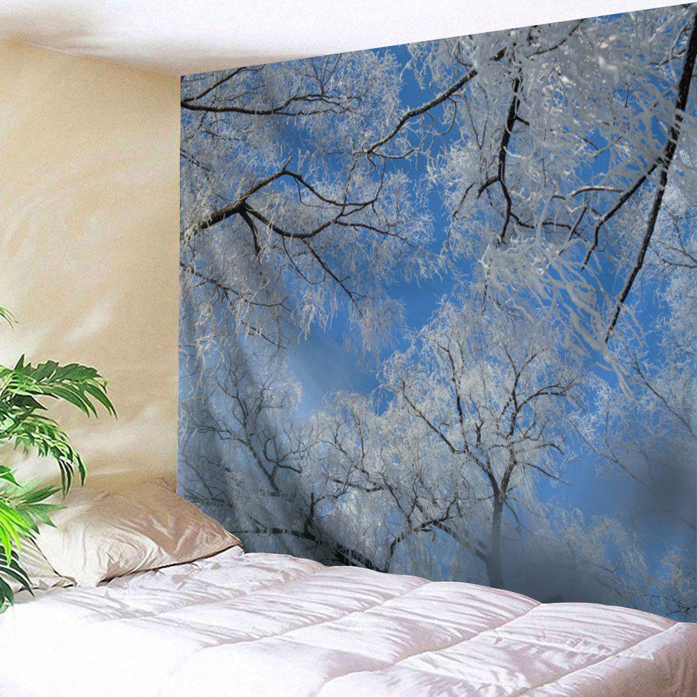Wall Hanging Snow Tree Christmas Tapestry christmas town snow moon wall tapestry