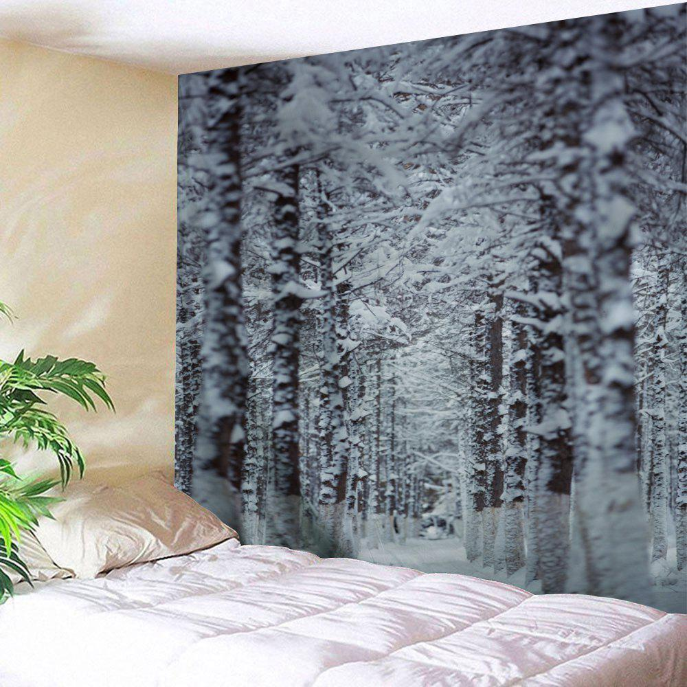 Christmas Snow Forest Path Wall Decor Tapestry fantasy forest hole pattern wall decor tapestry