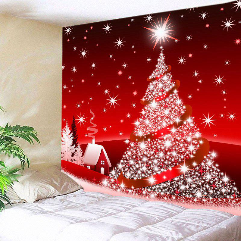 Christmas Tree Star Print Tapestry Wall Hanging Art christmas tree print tapestry wall hanging decor