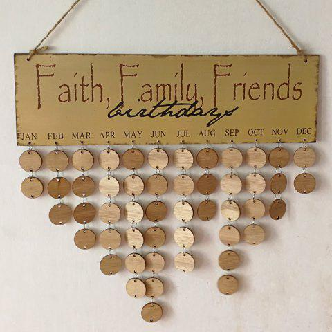2018 diy wooden faith family and friends birthday calendar round in