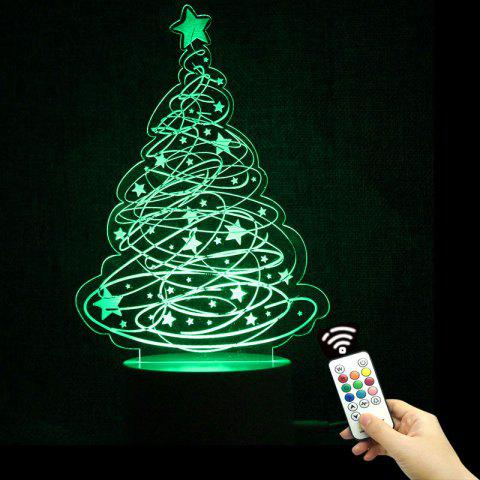 color change christmas tree and stars shape remote control night light transparent