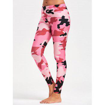 Camo Pattern Workout Tights - ACU CAMOUFLAGE M