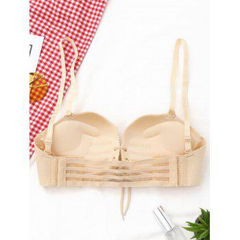 Shell Shape Lace-up Bra - COMPLEXION 70B