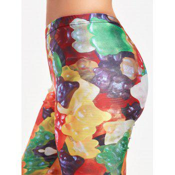 Multicolor Candy Pattern Leggings for Sports - S S