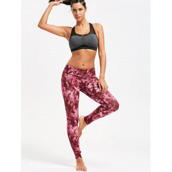 Tie Dye Slim Sports Leggings - Rouge M