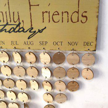 DIY Wooden Faith Family And Friends Birthday Calendar - ROUND