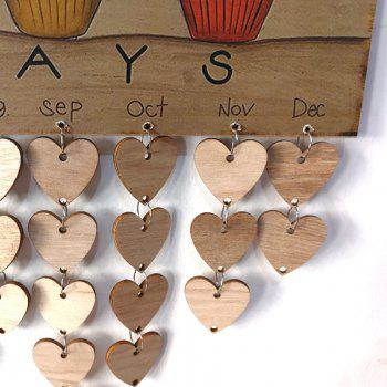 DIY Wooden Family And Friends Happy Birthday Calendar - HEART