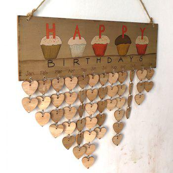 DIY Wooden Family And Friends Happy Birthday Calendar - HEART HEART