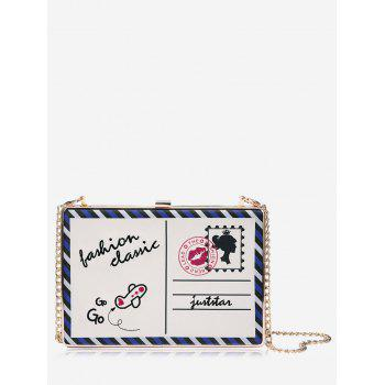 Postcard Box Chain Crossbody Bag - WHITE WHITE