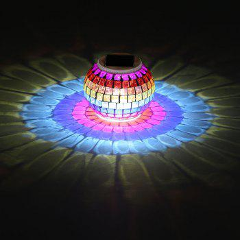 Color Change Mosaic Pattern Solar Lights Jar - COLORFUL COLORFUL