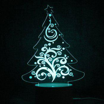 Christmas Tree Shape Color Changing Telecontrol Night Light - TRANSPARENT