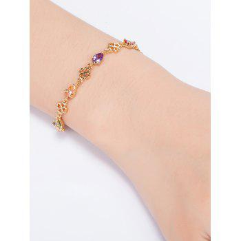 Water Drop Rhinestones Flower Bracelet -  COLORFUL