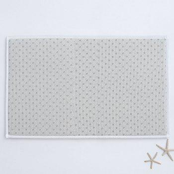Christmas Letter Print Flannel Thickening Bathroom Rug - CLOUDY CLOUDY