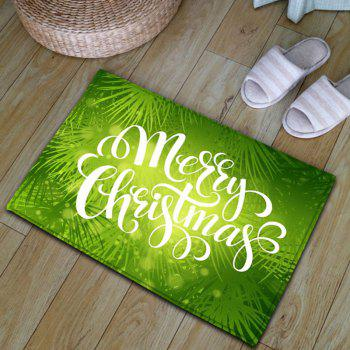 Thickening Flannel Christmas Letter Print Rug - GREEN GREEN
