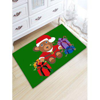 Flannel Thickening Christmas Beer Gift Area Rug - GREEN W20 INCH * L31.5 INCH