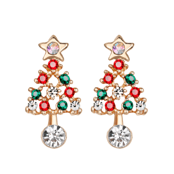 earrings cube green redbic tree shop jewelry christmas