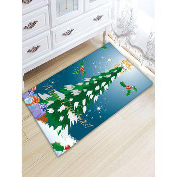 Flannel Thickening Christmas Tree Skidproof Rug - BLUE W20 INCH * L31.5 INCH