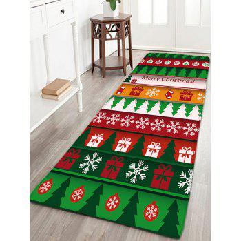 Flannel Thin Christmas Graphic Antislip Mat - COLORMIX COLORMIX