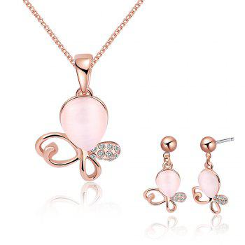 Irregular Faux Opal Rhinestone Jewelry Set - ROSE GOLD ROSE GOLD