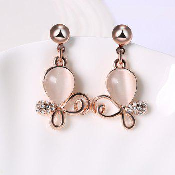 Irregular Faux Opal Rhinestone Jewelry Set -  ROSE GOLD