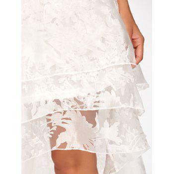 High Low Party Prom Tiered Tulle Dress - S S