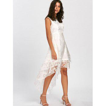 High Low Party Prom Tiered Tulle Dress - WHITE S