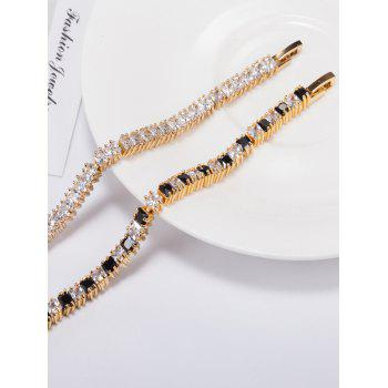 Single Row Stretch Rhinestone Embellished Bracelet -  BLACK
