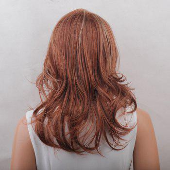 Long Colormix Side Bang Layered Tail Upwards Natural Straight Synthetic Wig -  COLORMIX