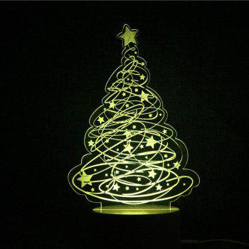 Color Change Christmas Tree and Stars Shape Remote Control Night Light - TRANSPARENT