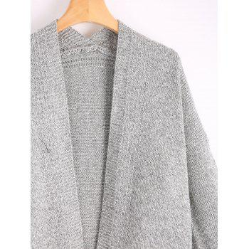 Pockets Long Sweater Cardigan - GRAY ONE SIZE