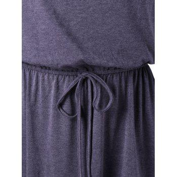 Top Tunique à col haardé - Gris Violet 2XL