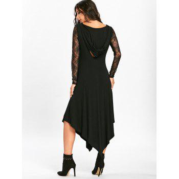 Halloween Spider Web Cut Out Midi Handkerchief Dress - M M
