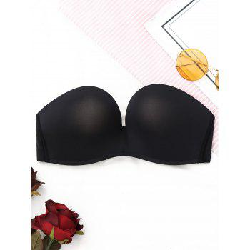 Strapless Push Up Bandeau Bra - BLACK BLACK