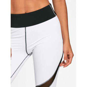 High Waisted Striped Skinny Leggings - WHITE/BLACK L